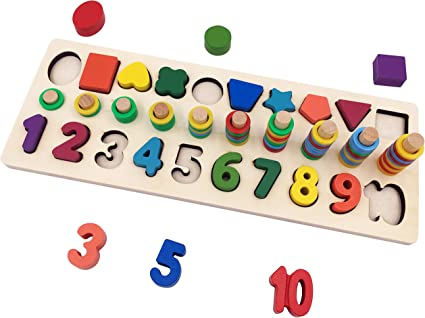 Montessori Math Toy DIY Fabric Cloth Number 1-10 Count Kids Toys Educate Craft