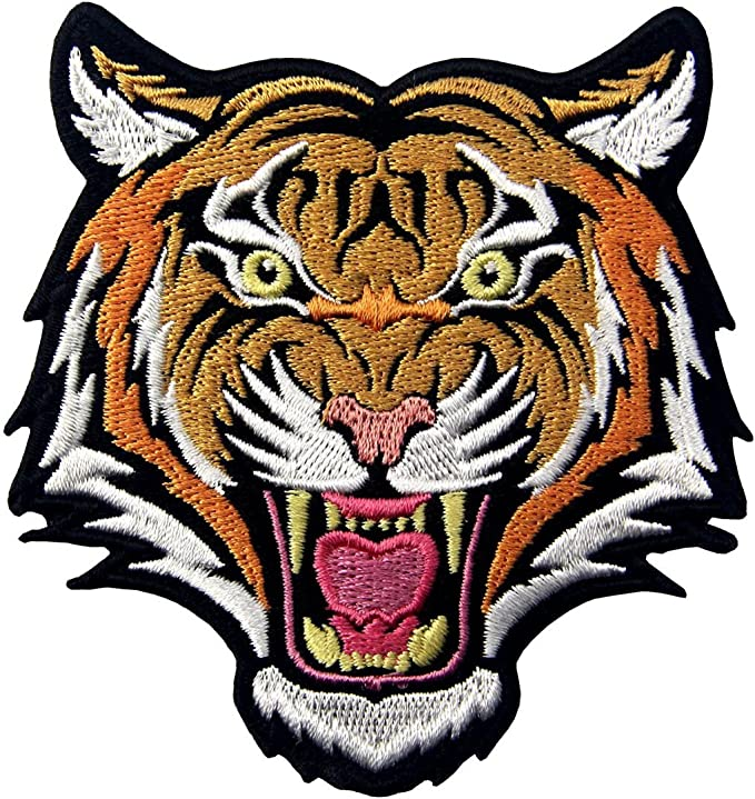 Bengal Tiger Embroidered Badge Iron On//Sew On Clothe Jacket Jeans N-87