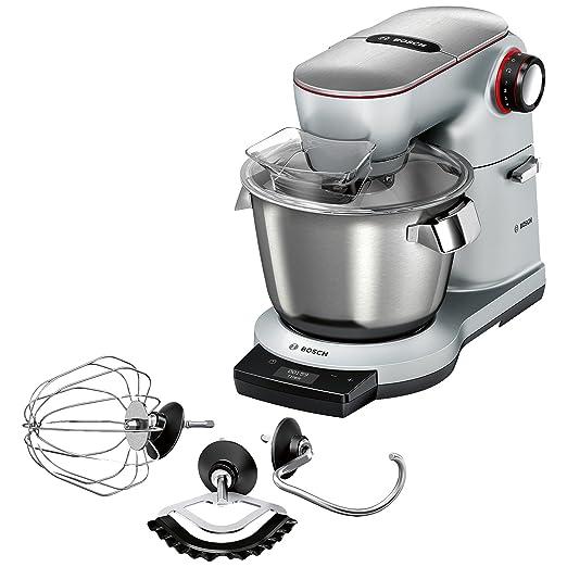 Bosch Optimum Robot de cocina, capacidad de 5,5 L, 7 velocidades y función turbo, 1500 W, 5.5 litros, 0.32, Acero Inoxidable, Gris