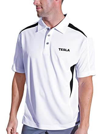 fef22676 Pro Celebrity Men's Tesla Polo Shirt at Amazon Men's Clothing store: