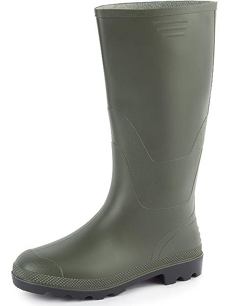 Ladeheid Botas de Caucho Goma de Seguridad Zapatos Hombre PA900P (Oliva, EU 39)