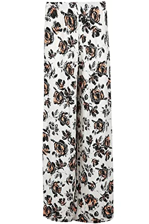 823e5cae7e28 Be Jealous Womens Floral Stripes Printed Palazzo Wide Leg Trousers Flared  Wide Leg Loose Baggy Leggings Pants  Amazon.co.uk  Clothing