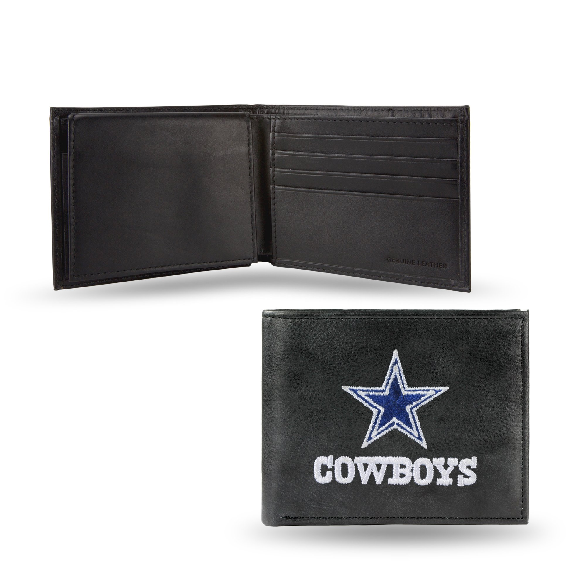 NFL Dallas Cowboys Embroidered Leather Billfold Wallet