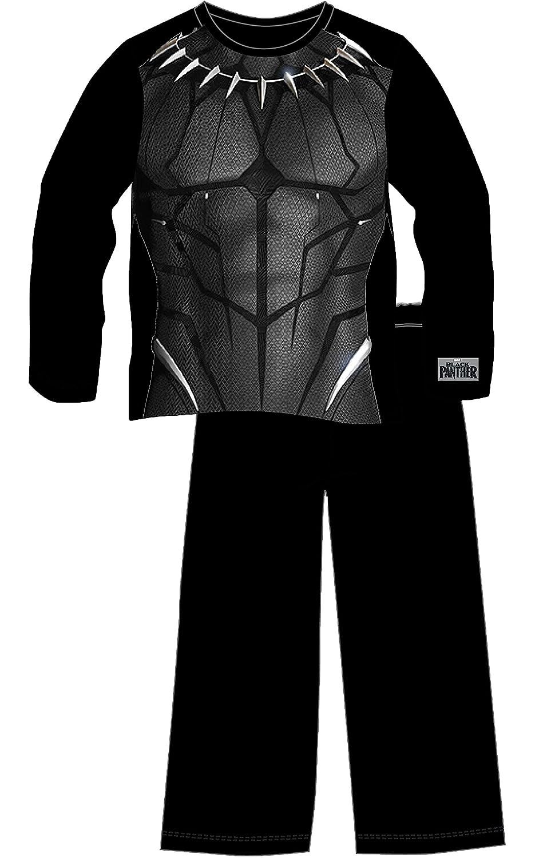 Marvel- Pijamas de Avengers Black Panther para Niños | Ropa o Disfraz Entero de Superhéroe Pantera Negra de los Vengadores | Regalo - Pantalón y Manga ...