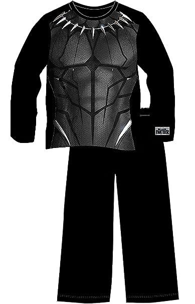 Marvel- Pijamas de Avengers Black Panther para Niños | Ropa o Disfraz Entero de Superhéroe