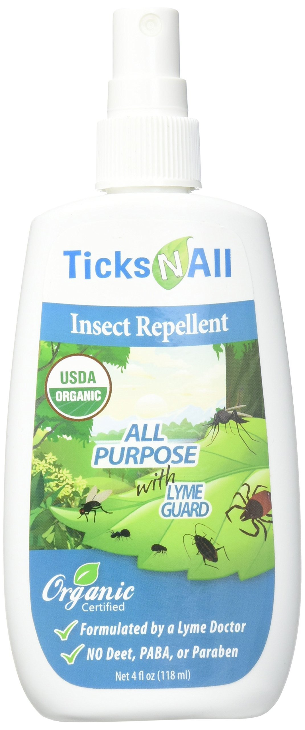 Ticks N All Purpose Insect Repellent, 4 Ounce