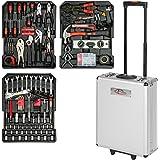 TecTake 377 pièces Mallette à outils trolley valise boite à tire caisse aluminium 3 tiroirs