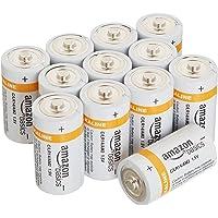 12-Pack AmazonBasics C Cell Everyday 1.5 Volt Alkaline Batteries
