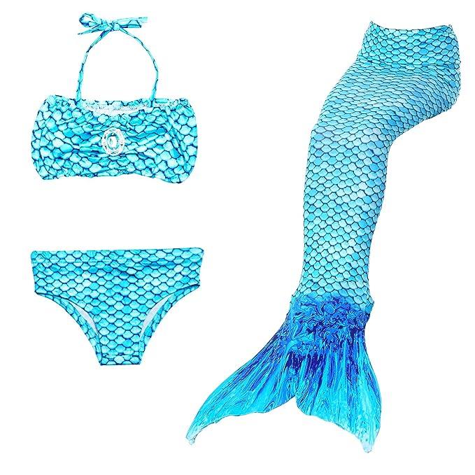 Amazon.com: Dressy Daisy Traje de baño de sirena para niñas ...