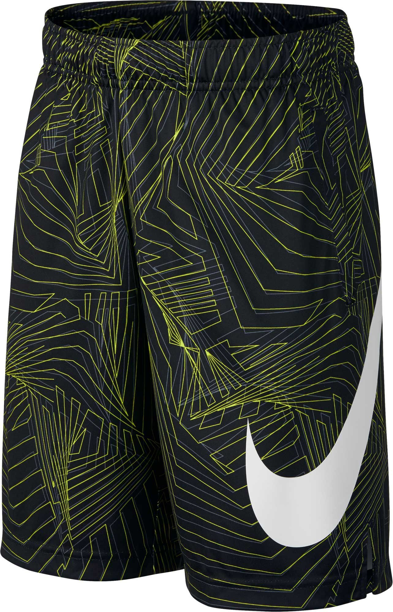 NIKE Big Kids' (Boys') Dri-FIT Training Shorts (Black(892490-010)/Cool Grey, Small)