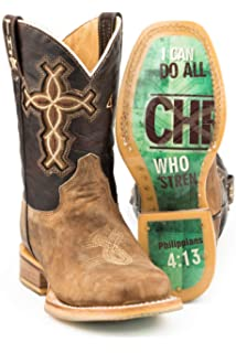 Tin Haul Mens No Tresspassing Sq Toe Boots
