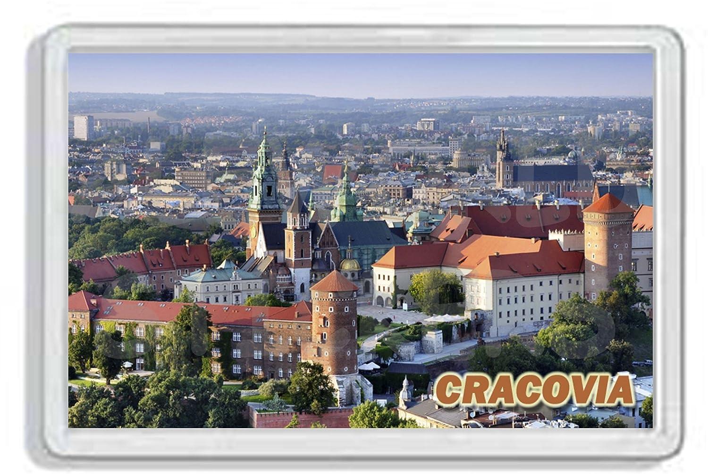 AWS Im/án de PVC Duro Cracovia krak/òw City Ciudad Polonia Im/án Frigor Magnet Poland