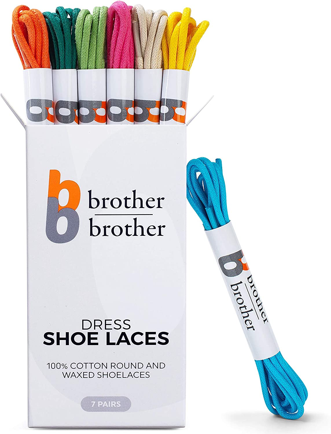 BB BROTHER BROTHER (7 Pairs) Colored Oxford Dress Shoe Laces | Shoe Strings