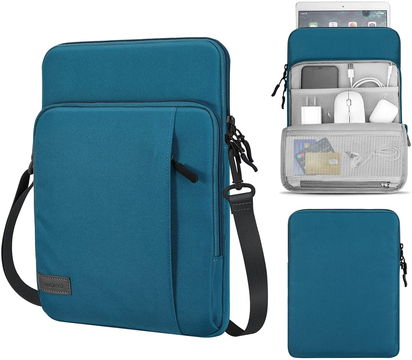 MoKo Sleeve Bag for 13.3 Inch Laptop, Carrying Pouch Portable Sleeve Case with Pocket Fits MacBook Air Retina 13.3 2018, MacBook Air 13.3 2019/2020, MacBook Pro 13.3 2020, iPad Pro 12.9 2021/2020/2018