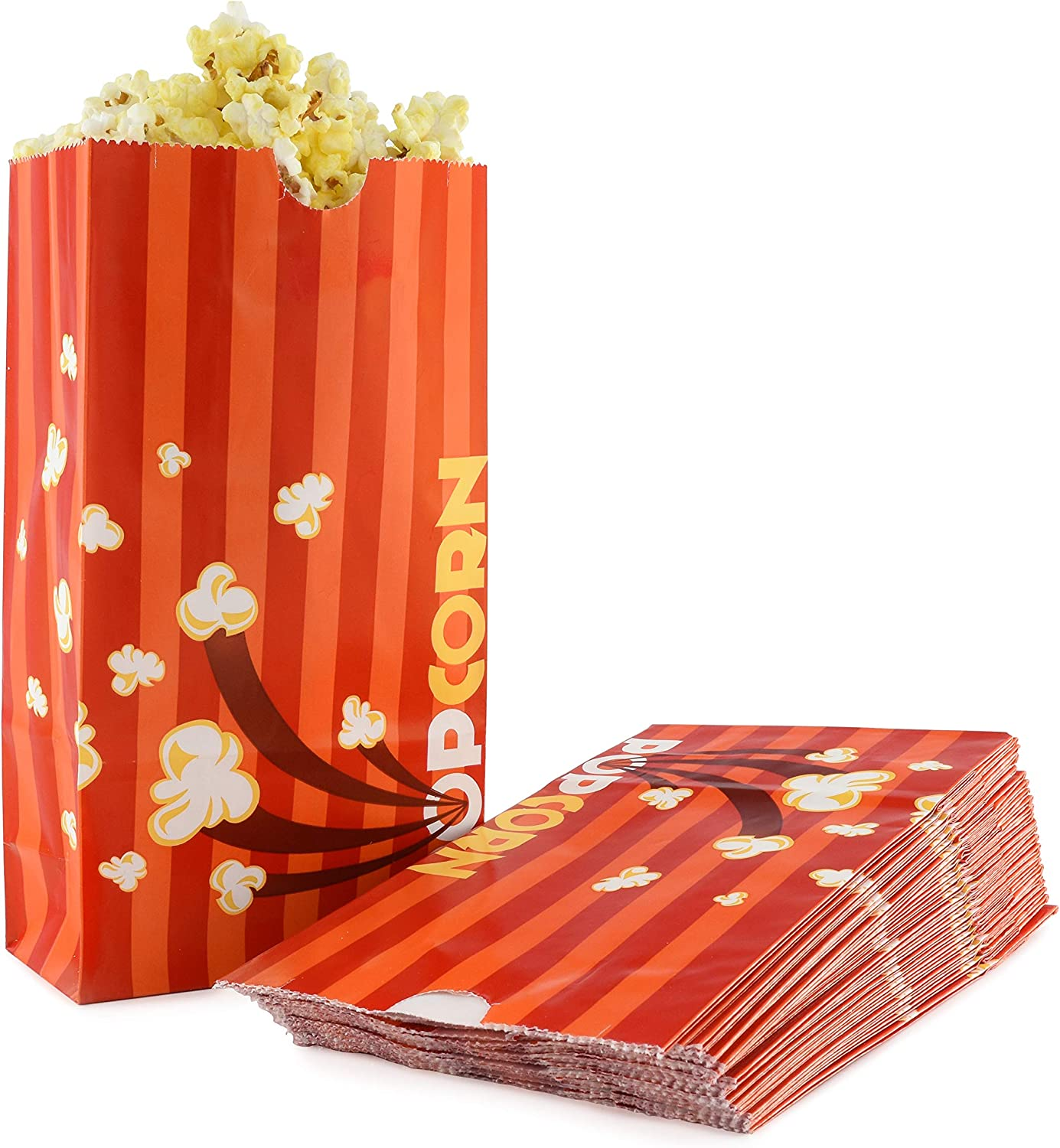 Amazon Com Snappy Popcorn Flat Bottom Theater Popcorn Bags 46 Oz 1000 Count Kitchen Dining