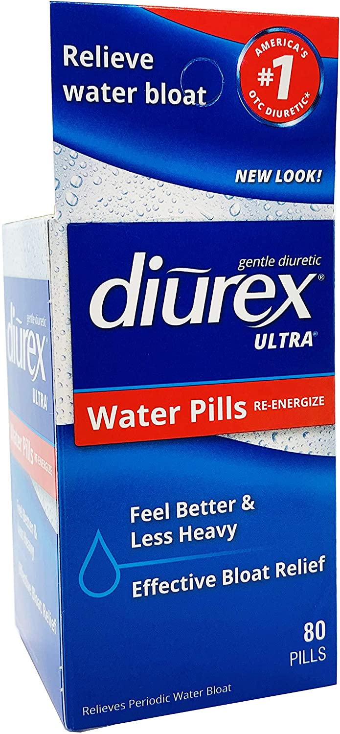 Diurex-Ultra Water Weight Loss Formula-80 Pills-Relieves Water Weight Gain, Bloating, Puffiness and Fatigue Related to Menstruation, 80 Count (Pack of 1)