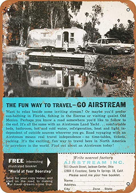 Froy 1960 Airstream Trailers Cartel de chapa de pared Cartel ...