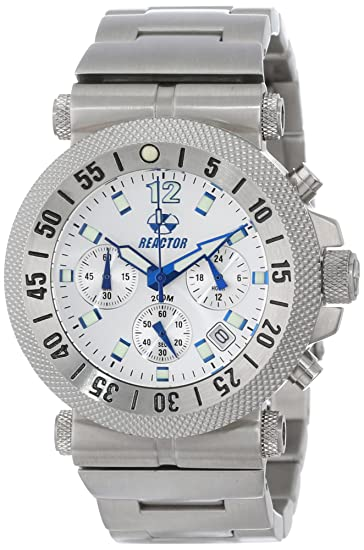Reactor 64002 - Reloj de Pulsera Hombre, Acero Inoxidable, Color Plata