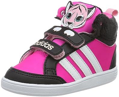 quality design 898fb 51c28 adidas Hoops Animal Cmf Mid Inf, Chaussures Unisexe  Enfants, Noir (Negbas