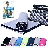 gipfelsport Mikrofaser Handtücher Sporthandtuch Set mit Tasche I Microfaser Badetuch, Reisehandtuch, Strandhandtuch I Schnelltrocknend I für Kinder, Damen und Herren