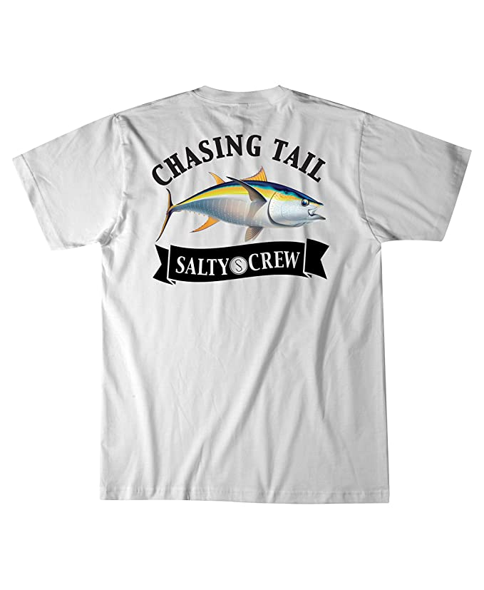 reputable site cf96a 484cc Salty Crew Sickle Fin Short Sleeve T-Shirt   Amazon.com