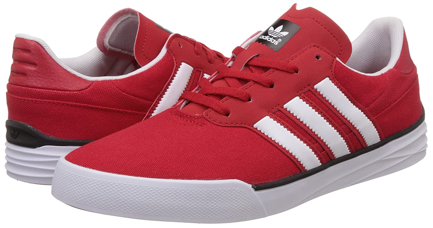 adidas Originals Men's Triad Red and White Leather Skateboarding Shoes - 12  UK: Buy Online at Low Prices in India - Amazon.in