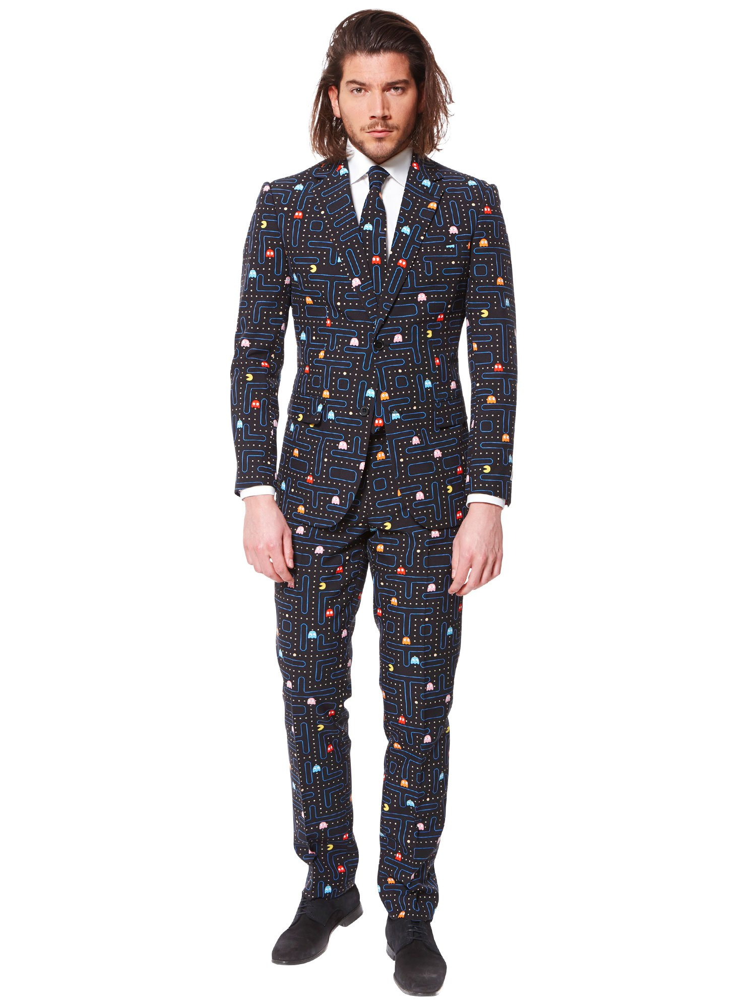 Opposuits Fancy Colored Suit For Men Now With Free Prom King and Prom Queen Sash,Pac-manTM,US44 by Opposuits (Image #3)