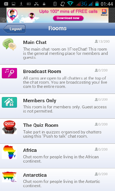 Amazon 1freechat Chat Rooms Appstore For Android
