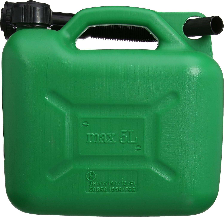Plastic Fuel Can Green Refill Garage Workshop Equipment Refilling