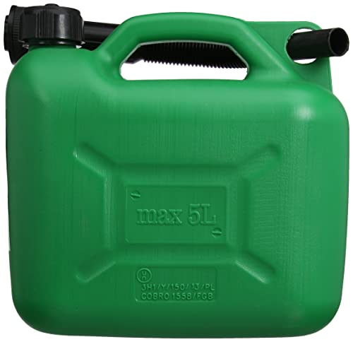 Silverline 847074 Plastic Fuel Can - 5 L, Green