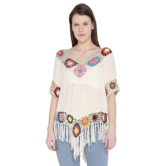 befc2a51919 Camey Women's Tops for Women Girls Ladies Latest Stylish Summer wear  Western Collection (0023_L.TOP.CREAM): Amazon.in: Clothing & Accessories