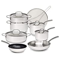 Deals on 12-Piece Goodful Classic Stainless Steel Cookware Set
