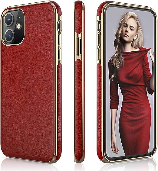 LOHASIC Coque pour iPhone 11 - Pour femme - En cuir synthétique de luxe - Souple - Antidérapante - Résistante aux rayures - Compatible avec Apple ...