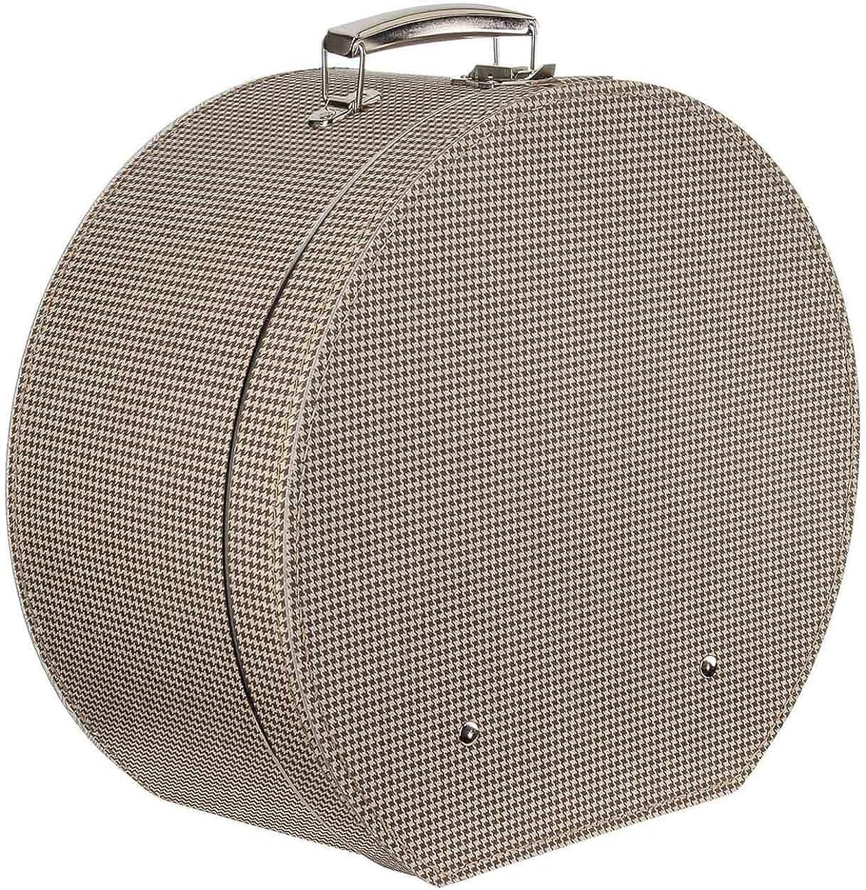 Lierys Caja para Sombrero Pata de Gallo Mujer/Hombre - Made in The EU sombrerera Verano/Invierno - Talla única marrón: Amazon.es: Ropa y accesorios