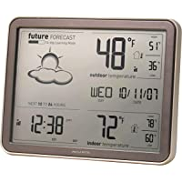 AcuRite 75077 Weather Forecaster with Jumbo Display, Remote Sensor and Atomic Clock