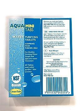 Aqua Clean - Pastillas de purificación de agua para barcos, caravanas o autocaravanas, caja con 40 pastillas: Amazon.es: Deportes y aire libre