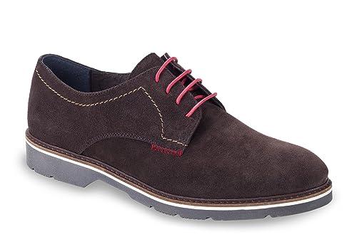 t2in R-3098 Zapatos de Cordones Oxford, Hombre, Marrón (Brown),