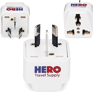 Premium US to Australia & New Zealand Power Adapter Plug (Type I, 3 Pack, Grounded)