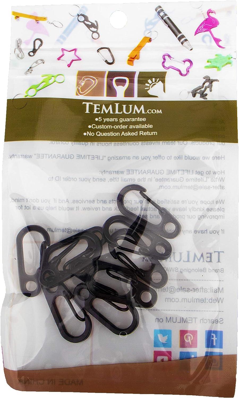 Temlum minuscoli moschettone in Alluminio moschettone Clip Mini moschettone a Molla Snap per Campeggio Escursionismo Escursionismo Portachiavi allaperto 10 pz