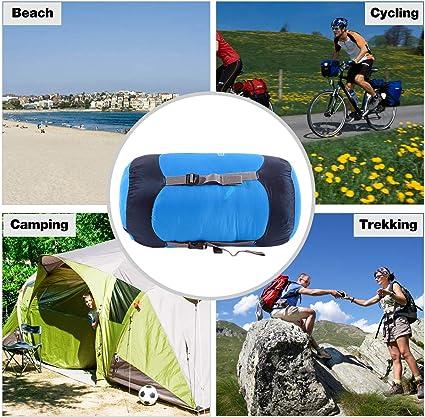 Ideal para mochileros Senderismo y Camping REDCAMP Saco de compresi/ón de Nailon 20L//35L//45L Saco de Dormir Ligero de compresi/ón