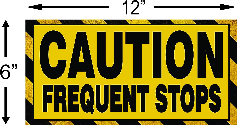 CAUTION Frequent Stops Magnetschild Schild magnetisch
