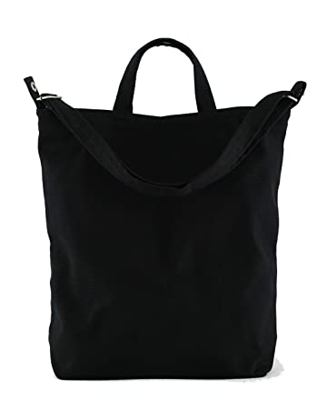 e583bf0a0db Amazon.com   BAGGU Duck Bag Canvas Tote, Essential Tote, Spacious and  Roomy, Black   Travel Totes