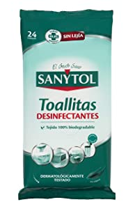 Sanytol - Toallitas Desinfectantes Multiuso, 24 Unidades