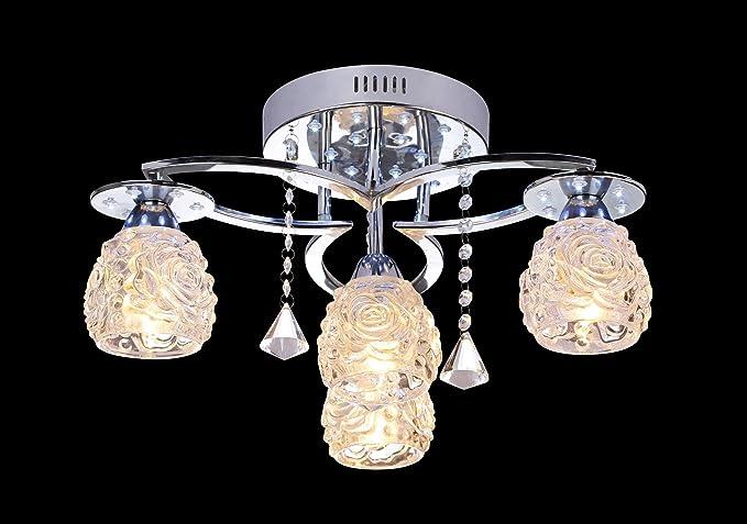 Lampada da soffitto leuchtstarke b47 cm classico bianco acciaio
