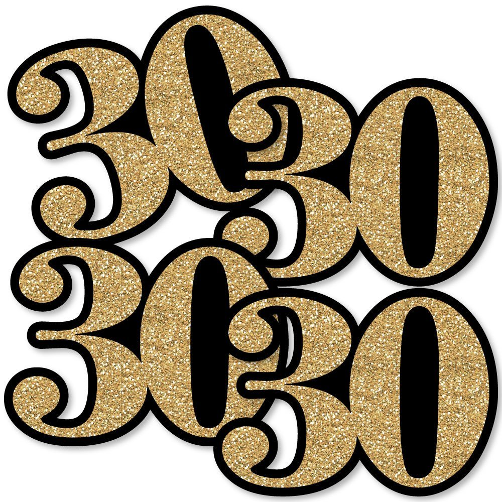 Gold Adult 30th Birthday Set of 20 Decorations DIY Party Essentials