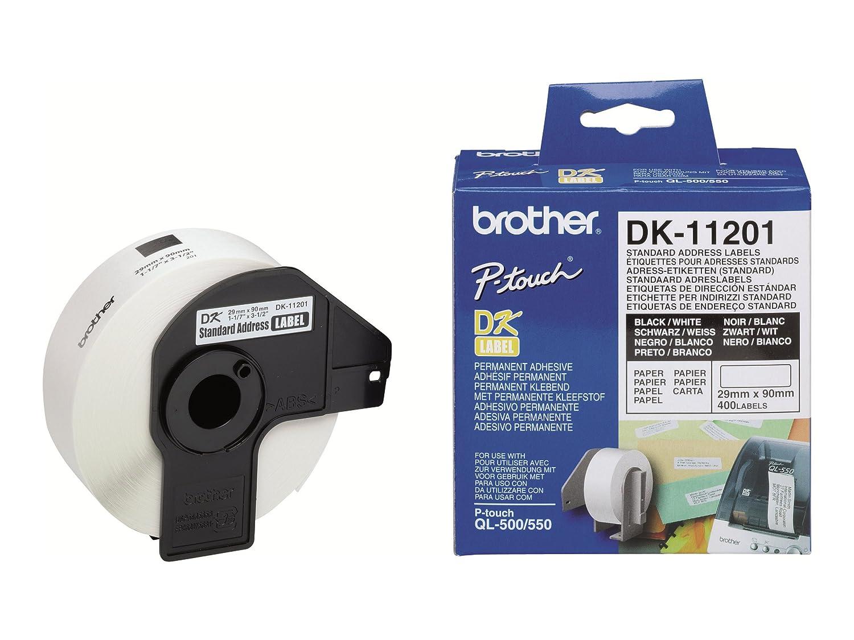 Brother DK-11201 Etichette per Indirizzi, Nero/Bianco DK11201