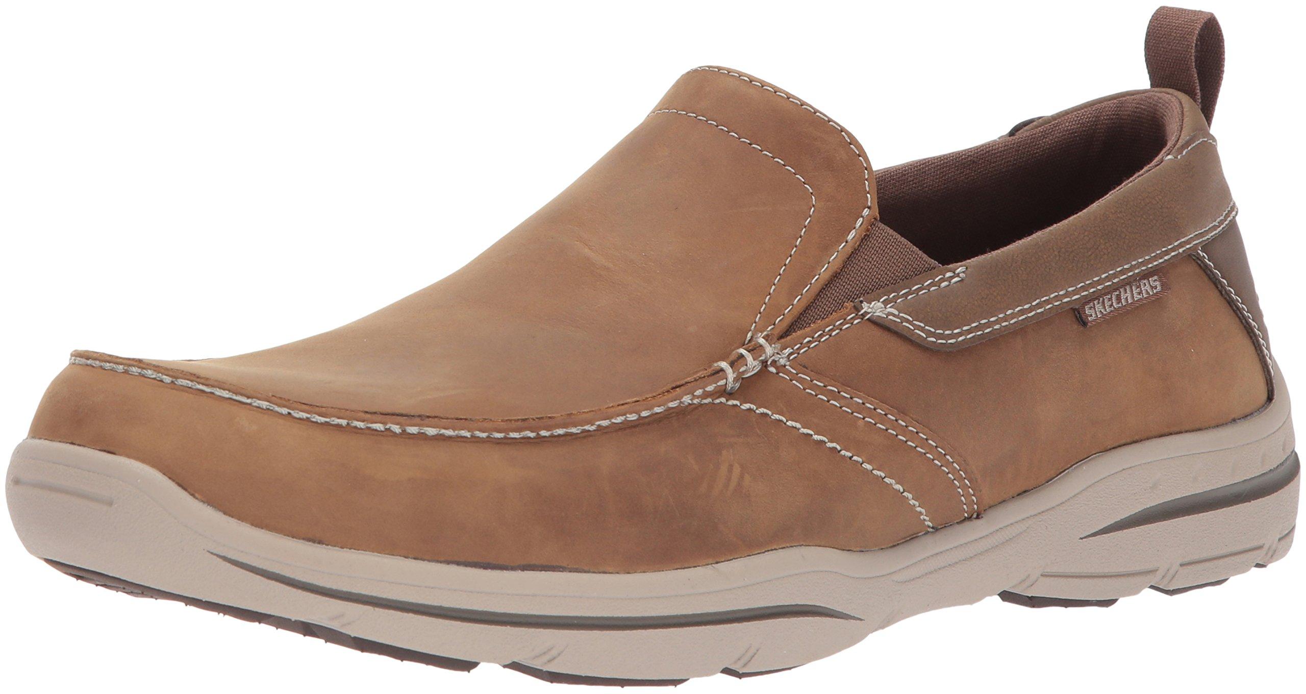 Skechers Men's Harper-Forde Driving Style Loafer, Dsch, 13 Wide US by Skechers