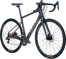 Blue Road Endurance Bike Prosecco EX Full Carbon, Disc Brakes with Shimano Ultegra 22 Speed,