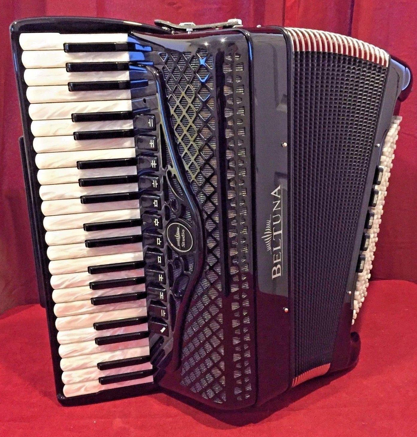Nueva beltuna Piano acordeón Studio IV negro lmmh 41 120 ...