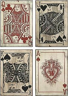 Imax 97028 4 Leonato Playing Card Wall Decor Set Of 4